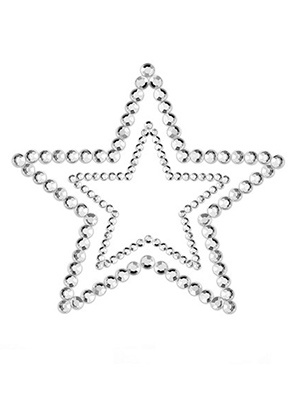 lingerie Nippies Mimi Star Silver